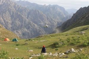 7.посадка вертолёта на Зелёную поляну