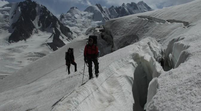 Маршрут по ледникам центрального Памира.