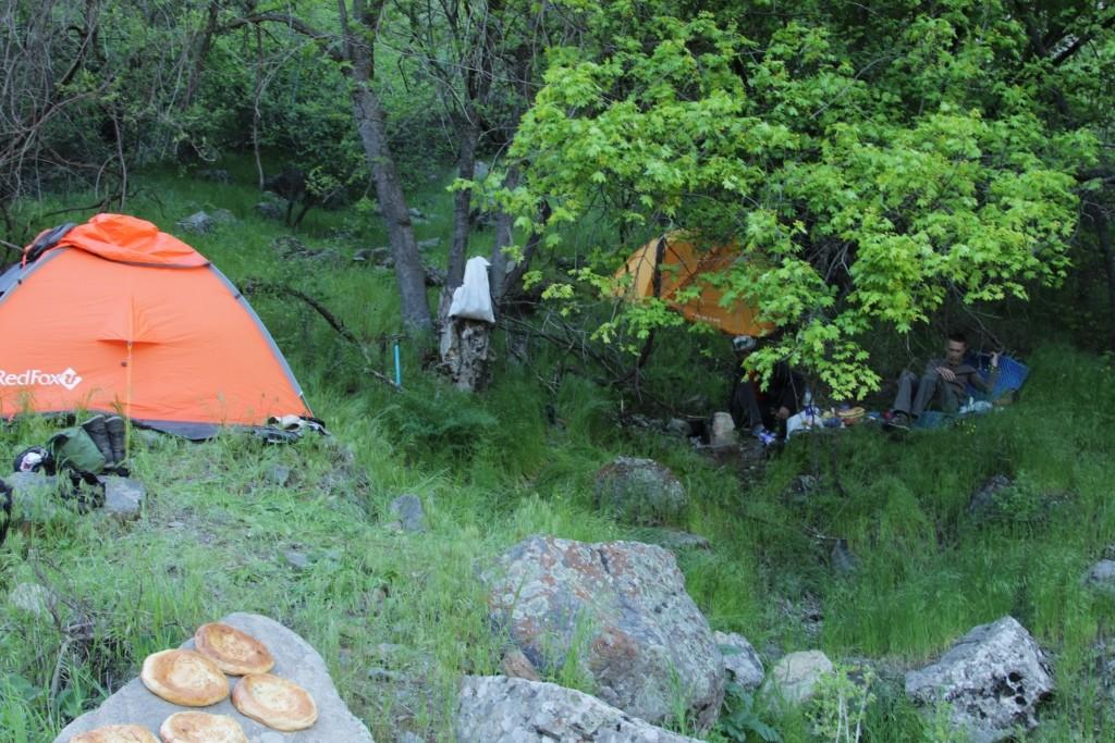 6 Sherkent Valley. First camp.