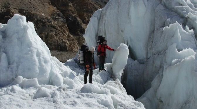 Expedition to the Fedchenko glacier.